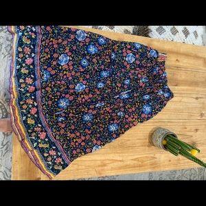 SPELL Midi skirt. GUC Tags missing folk town print
